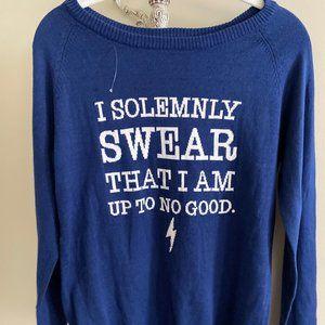 "Harry Potter ""I solemnly swear"" Sweater NWOT S"